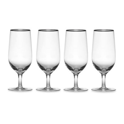 Mikasa® Cameo Platinum 17-Ounce Iced Beverage Glasses (Set of 4)