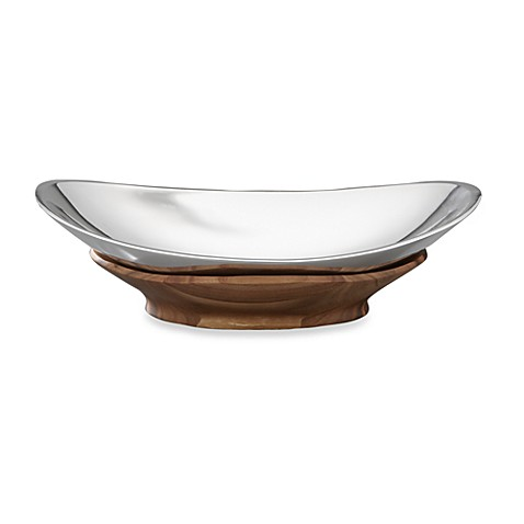 Nambe Oval Cradle Bowl