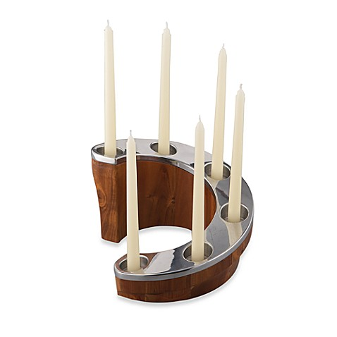 Nambe Staircase Candle Holder