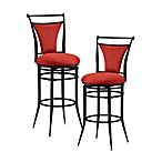 Brooks Swivel Stools in Flame Red