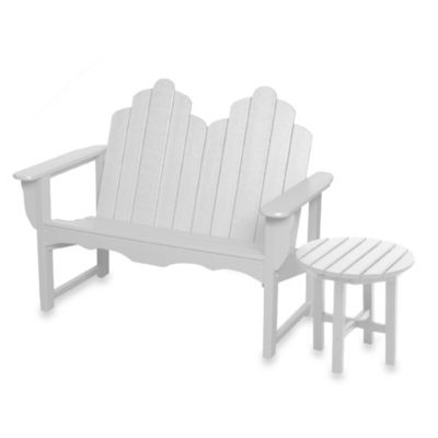Beachfront Furniture Collection Adirondack Bench in White