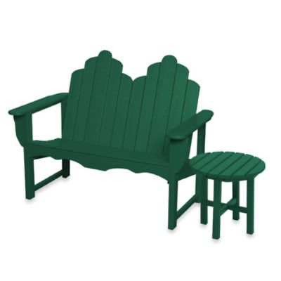 Beachfront Furniture Collection Adirondack Bench in Green