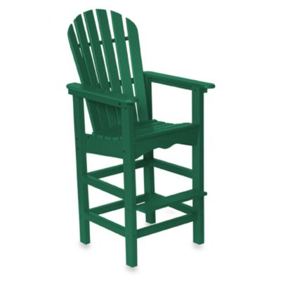 Beachfront Furniture Collection Adirondack Bar Stool in Green