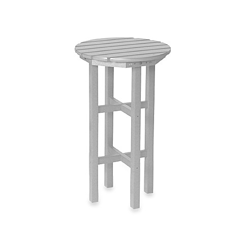 Beachfront Furniture Collection Adirondack Barstool Side Table in White