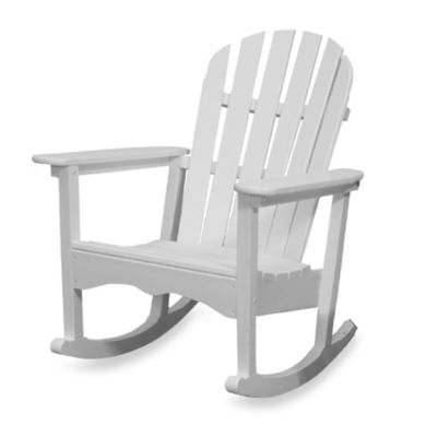 Beachfront Furniture Collection Adirondack Rocking Chair in White