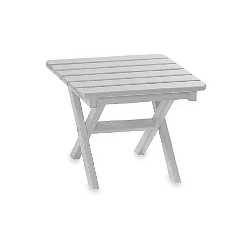 Beachfront Furniture Collection Square Side Table in White