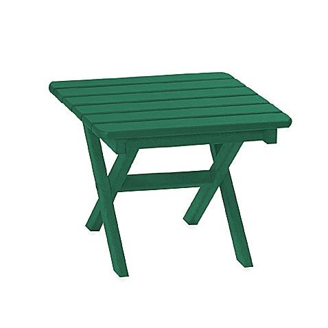 Beachfront Furniture Collection Square Side Table in Green