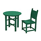 Beachfront Furniture Collection Coral Reef Dining Chair & Table in Green