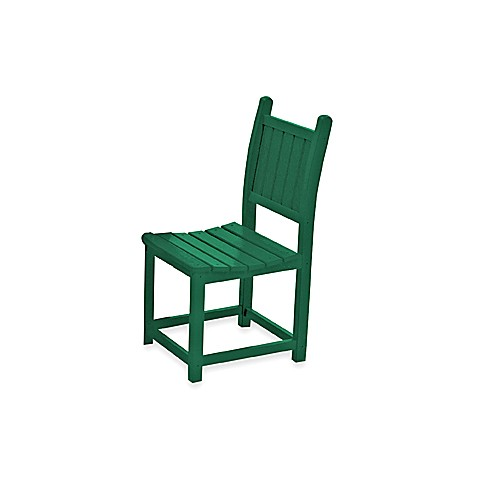 Beachfront Furniture Collection Coral Reef Dining Chair in Green