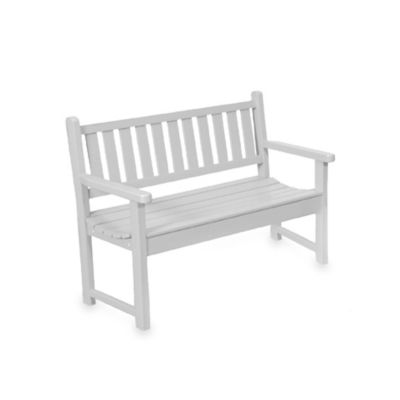 Beachfront Furniture Collection Contour Garden Bench in White