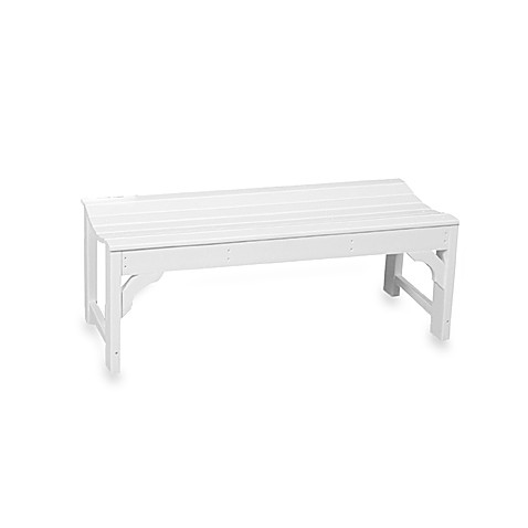 Beachfront Furniture Collection Classic Garden Bench in White
