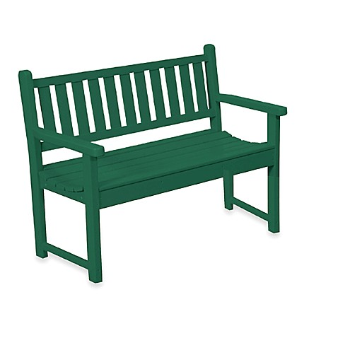 Beachfront Furniture Collection Contour Bench in Green