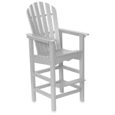 Beachfront Furniture Collection Adirondack Bar Stool in White