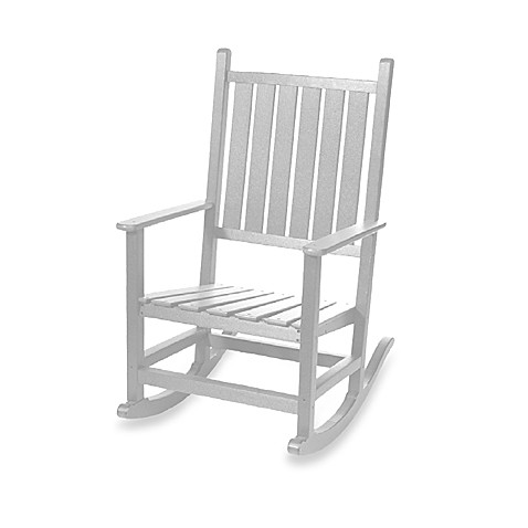 Beachfront Furniture Collection High Tide Rocking Chair in White