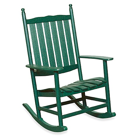 Beachfront Furniture Collection Seahorse Rocking Chair in Green