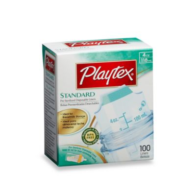 Playtex® 4-Ounce Standard 100-Count Pre-Sterilized Disposable Bottle Liners