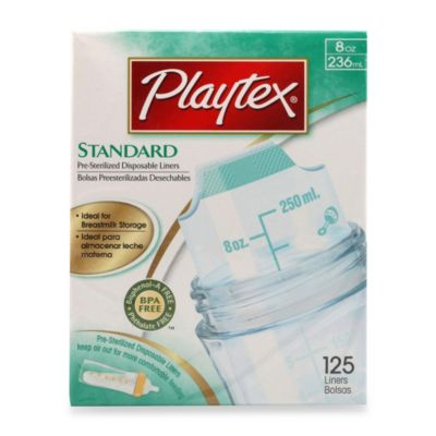 Playtex® 8-Ounce Drop-Ins Pre-Sterilized Disposable Bottle Liners (125 Count)