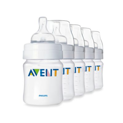 AVENT Classic Natural Feeding 5-Pack 4-Ounce Bottle