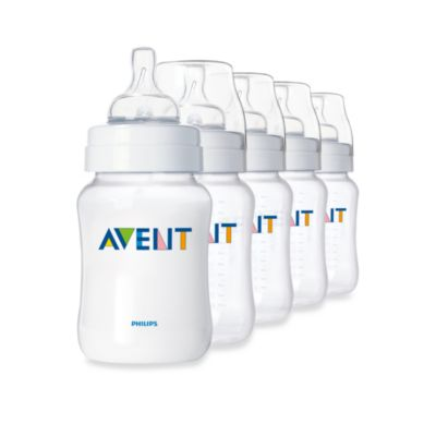 AVENT Classic Natural Feeding 5-Pack 9-Ounce Bottle