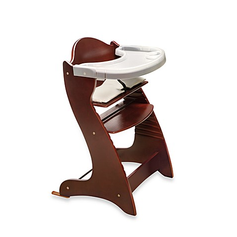 Badger Basket Embassy Wood Baby High Chair with Tray in Cherry