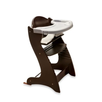 Badger Basket Embassy Wood Baby High Chair with Tray in Espresso