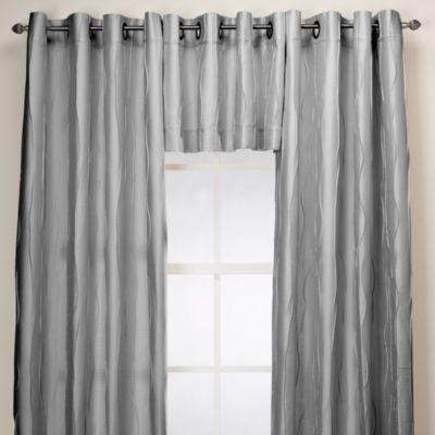 Venice Window Curtain Valance in Silver