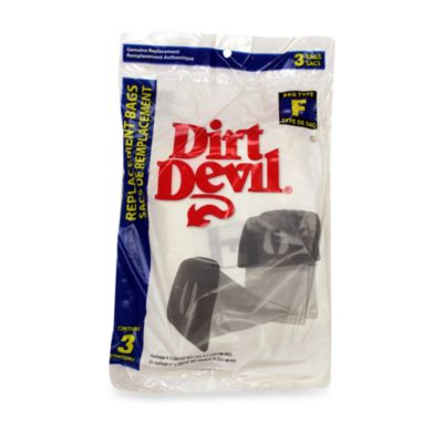 Dirt Devil® 3-Pack Type F Vacuum Bags