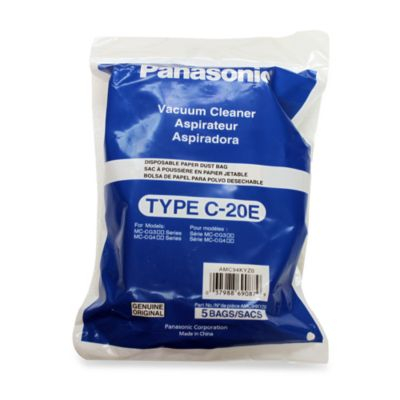 Panasonic® 5-Pack Type C-20E Vacuum Bags
