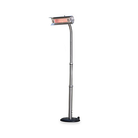 Well Traveled Living Stainless Steel Telescoping Offset Pole Mounted Infrared Patio Heater