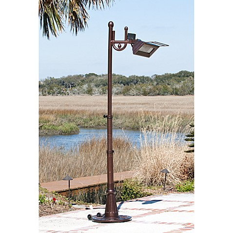 Well Traveled Living Hammer Tone Bronze Tradition Design Pole Mounted Infrared Patio Heater