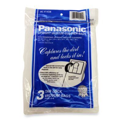 Panasonic® Type U-6 Upright Vacuum Cleaner Bags - 3 Pack