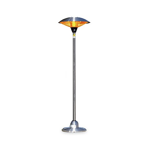 Well Traveled Living Stainless Steel Floor Standing Round Halogen Patio Heater