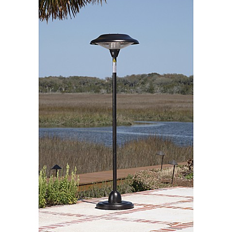 Well Traveled Living Hammer Tone Bronze Floor Standing Round Halogen Patio Heater