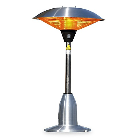 Well Traveled Living Stainless Steel Table Top Round Halogen Patio Heater