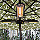 Well Traveled Living Umbrella Halogen Patio Heater
