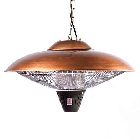 Well Traveled Living Hanging Copper Finish Halogen Patio Heater