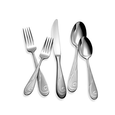 Yamazaki® Platinum Wave 5-Piece Flatware Place Setting
