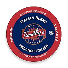 Timothy's Italian Blend Coffee K-Cup for Keurig Brewers