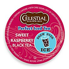 Celestial Seasonings Perfect Iced Tea Sweet Raspberry Tea Set of 16 K-Cup for Keurig Brewers