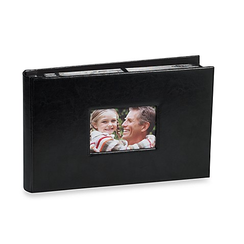 Genuine Bonded Leather Photo Album in Black