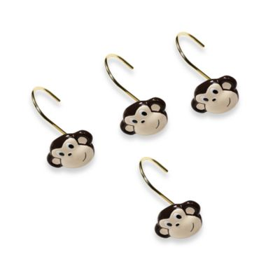 Motion Monkey Shower Curtain Hooks (Set of 12)
