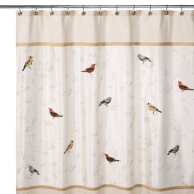Avanti Gilded Birds 72-Inch x 72-Inch Shower Curtain