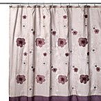 B. Smith Purple Bloom 72-Inch x 72-Inch Shower Curtain