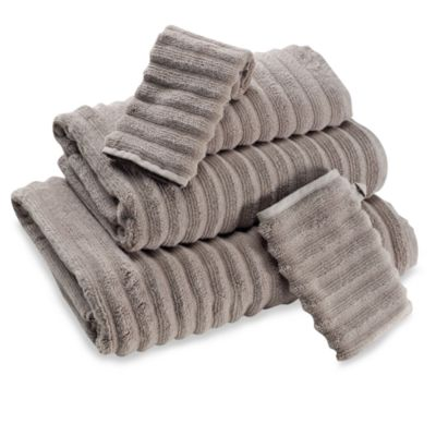 Turkish Ribbed Bath Towel in Taupe