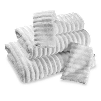 Turkish Ribbed Washcloth - White