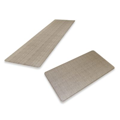 GelPro® Wicker Chef's Mat in Oyster Grey