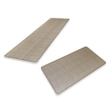 GelPro Wicker Chef's Mat in Oyster Grey
