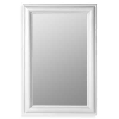 Beveled Mirror with White Frame
