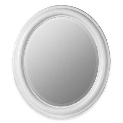 Cooper Classics Addision Oval Mirror - White