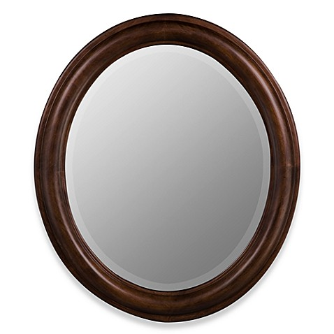 Cooper Classics Addision Oval Mirror in Brown